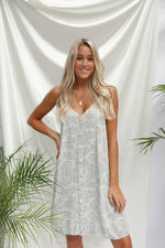 Sea foam Palm dress