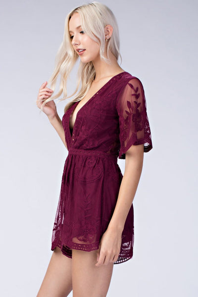 Wine Lace Canyon Romper