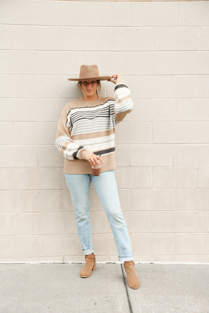 Striped mocha & the sea sweater