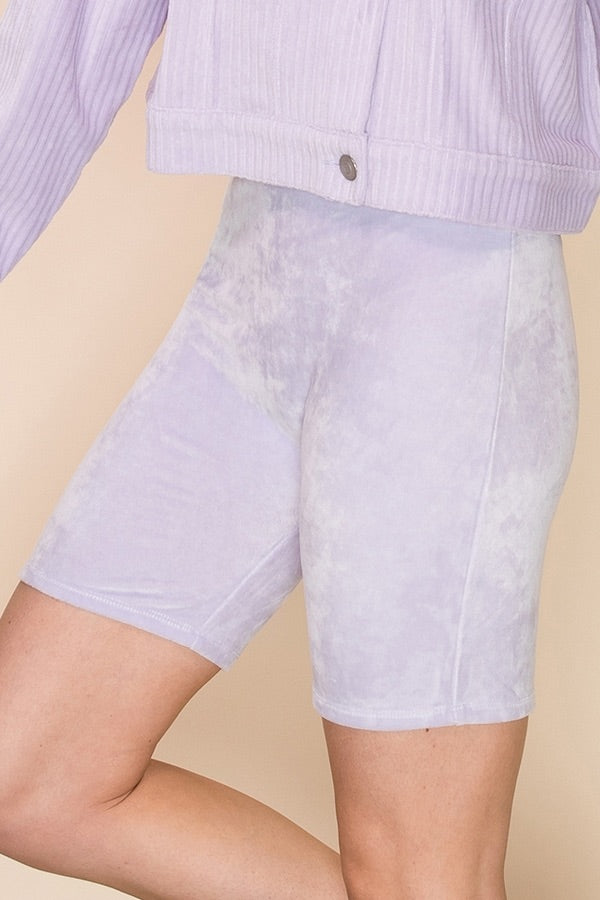 Lilac Biker Shorts - Hippie Kids