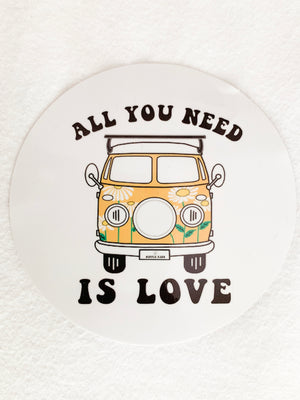 Love is all you need sticker - Hippie Kids