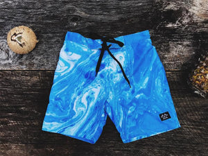 Marbleized Board Short - Hippie Kids