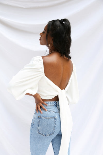 Sawyer Top in white