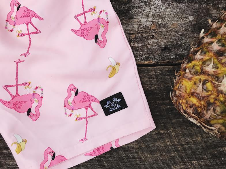 Flamingo Boardshort - Hippie Kids