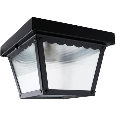 1-Light Square Porch Flush Mount