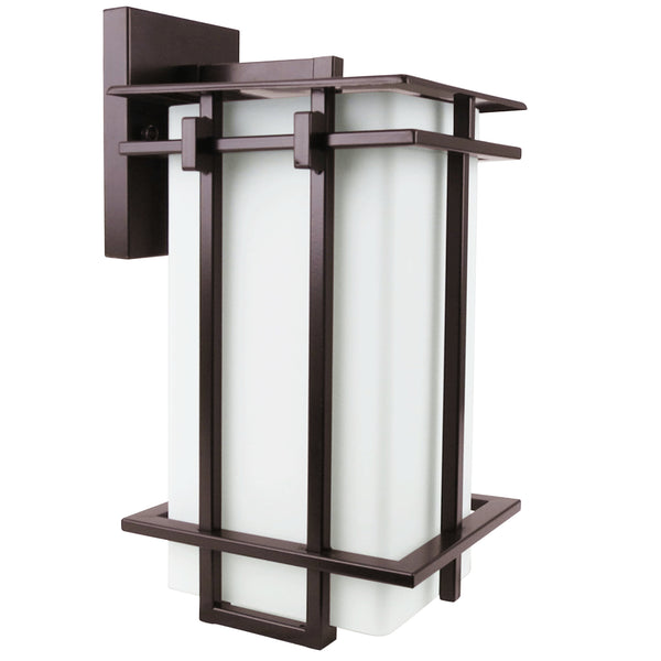 Contemporary Square-Deco Wall Lantern