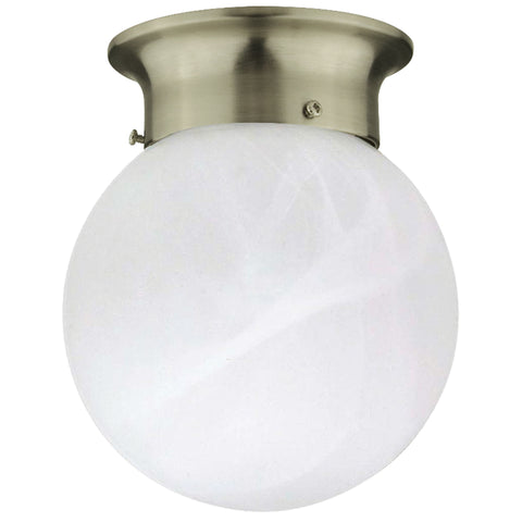 Alabaster Globe Flush Mount