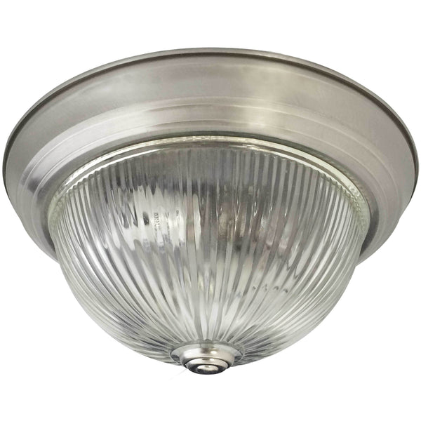 Clear Ribbed Dome - Flush Mount