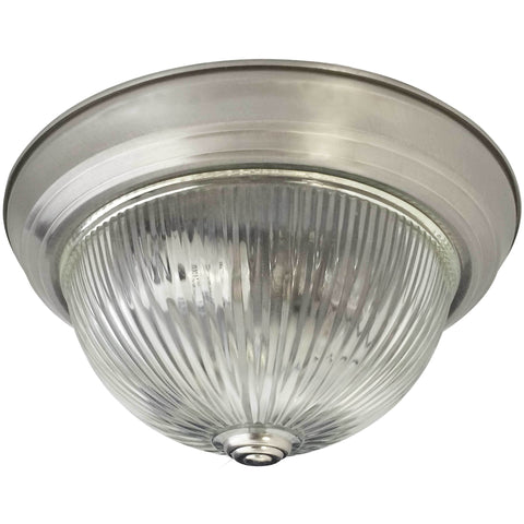 Clear Ribbed Flush Mount