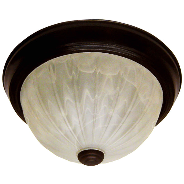 Sandstone Swirl Melon Dome Flush Mount