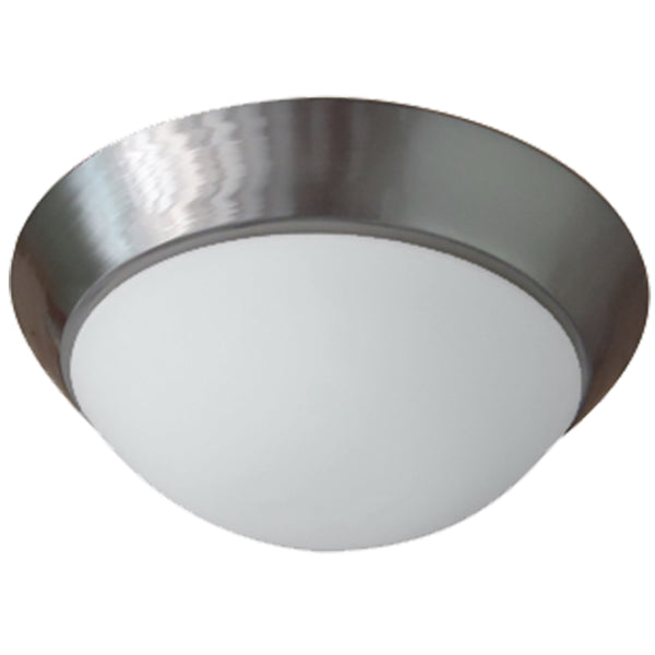 Frosted Twist-On Flush Mount