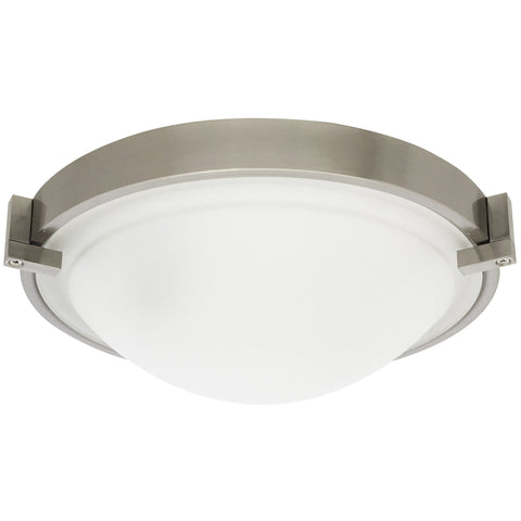 Swivel-Clip Frosted-Flush Mount
