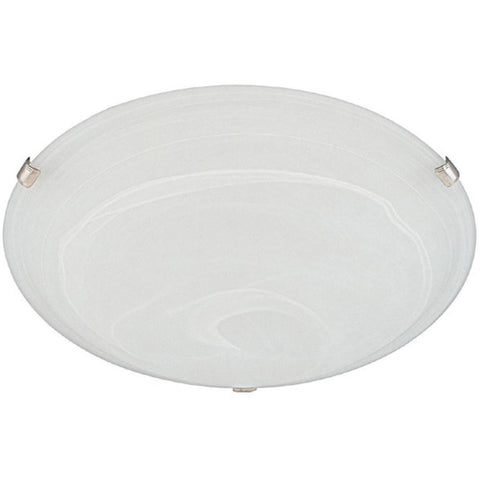 2-Light, 3-Clip Decorative Alabaster Flush Mount