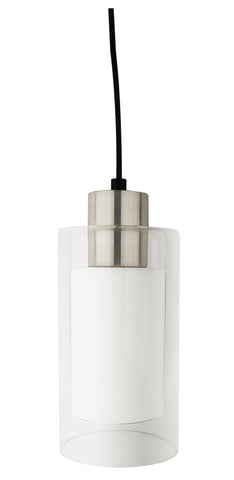 1-Light, Double Cylinder Mini Pendant, Cord-Hung