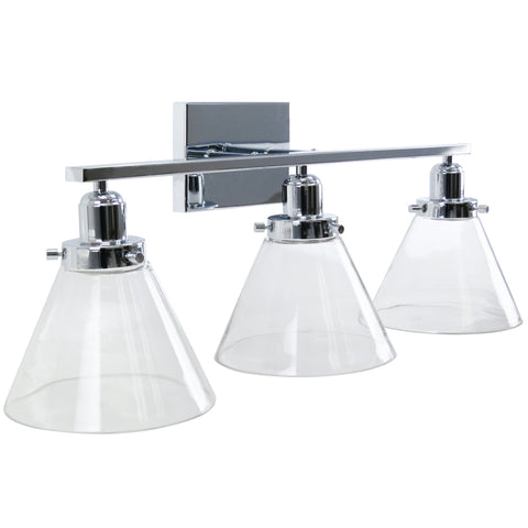 3 Light Bar Conical Vanity