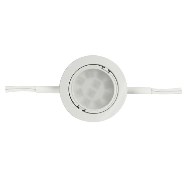 "Two 6"" Lead LED Puck Light"