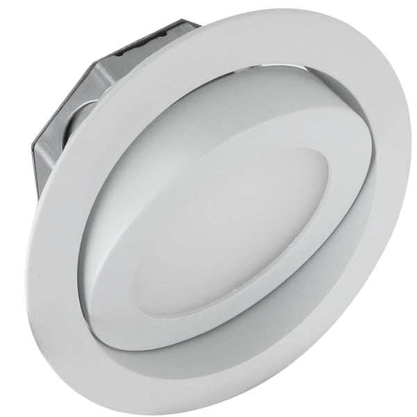 GIMBAL SWIVEL LED RECESS DISC FLUSH-MOUNT