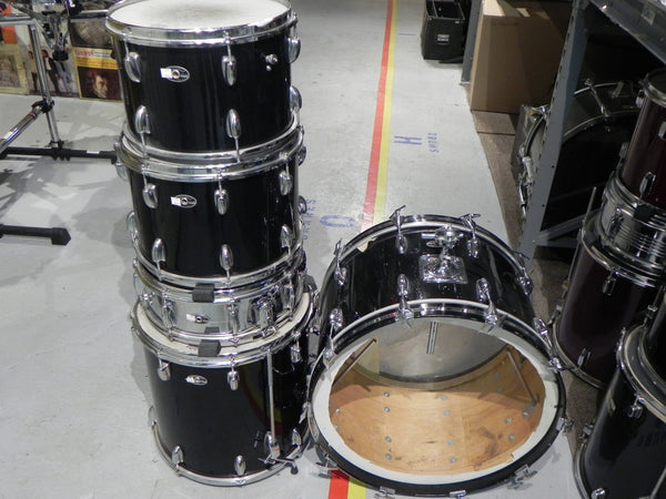 Slingerland 51N Super Rock Black Beauty Pearl Wrap 5pc w/Stands
