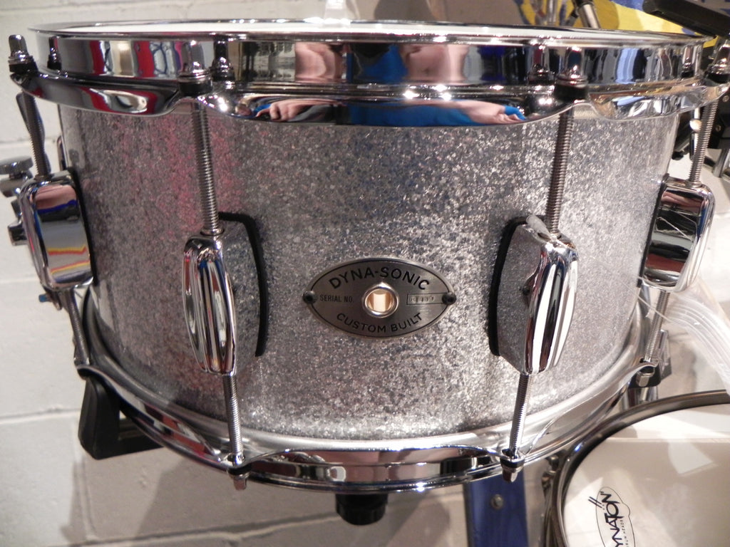 Rogers Dynasonic 6.5x14 Sliver Sparkle