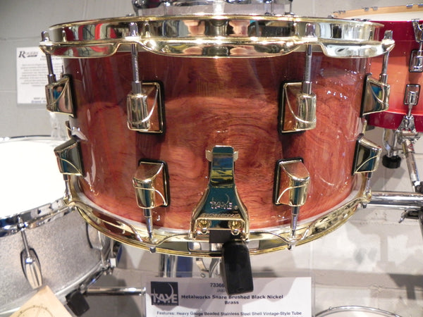 Taye Specialty Snare Bubinga/Maple Hybrid-Natural