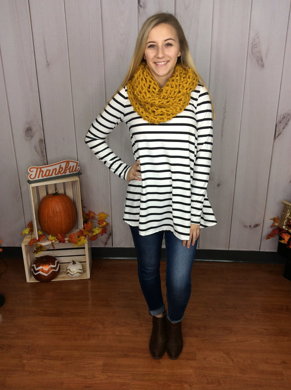 Cement The Deal Striped Top
