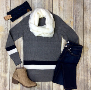 Embrace Grey Sweater