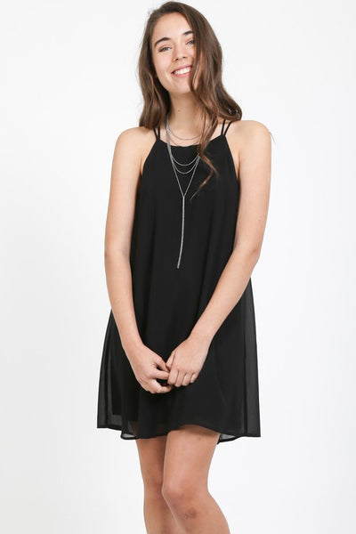 Spaghetti Strap  Dress With Cutout Back Detail
