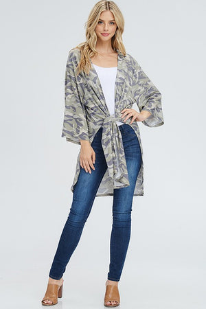 I Am A Warrior Camo Cardigan - FINAL SALE CLEARANCE