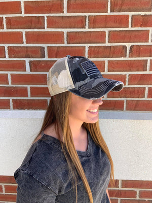 CC Camo Flag Pony Hat