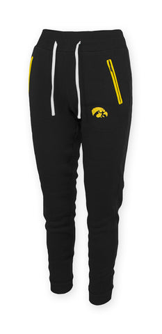 Iowa Hawkeye Joggers with Zipper Side Pockets