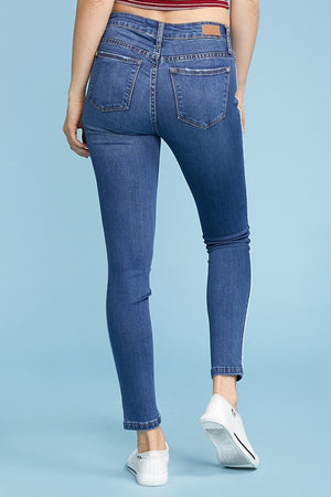Judy Blue Skinny Jeans With Side Piping