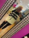 Block Striped Long Sleeve Sweater
