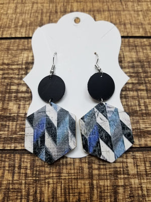 Double Layer Leather Earrings