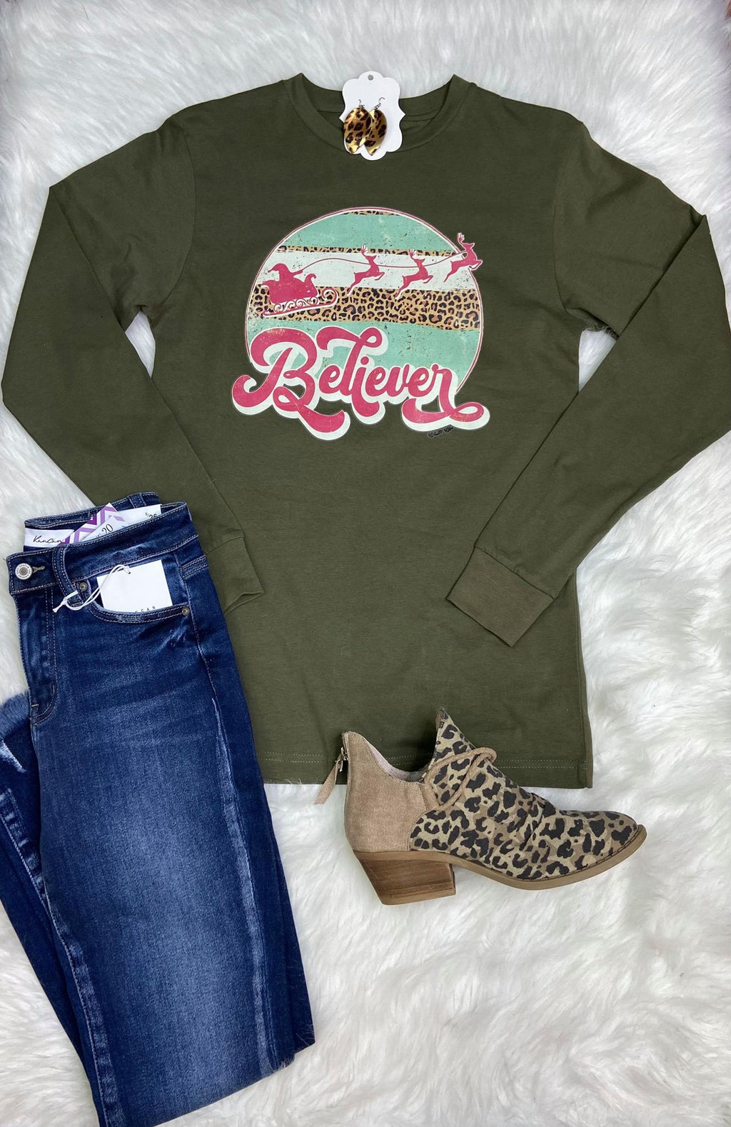 Believer Long Sleeve Graphic Tee