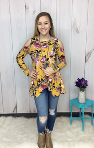 Wildflowers In Spring Cold Shoulder Top