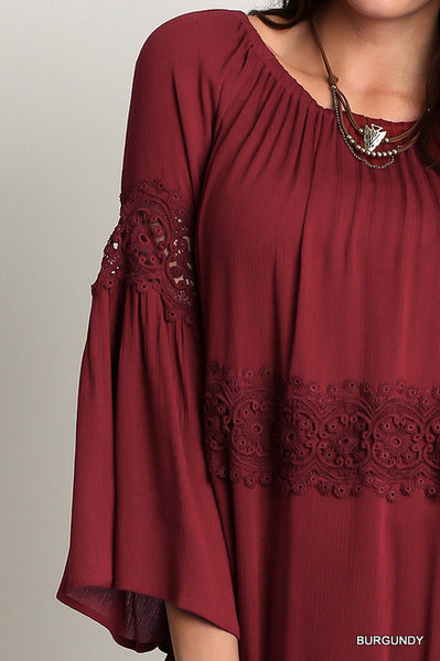 Off The Shoulder Bell Sleeve Tunic