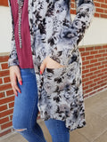 Good Times In Floral High-Low Cardigan - Final Sale Clearance