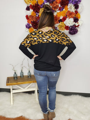 Where In The Wild Animal Print Waist Tie Top