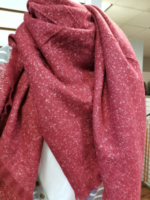 Solid Light Speckle Blanket Scarf