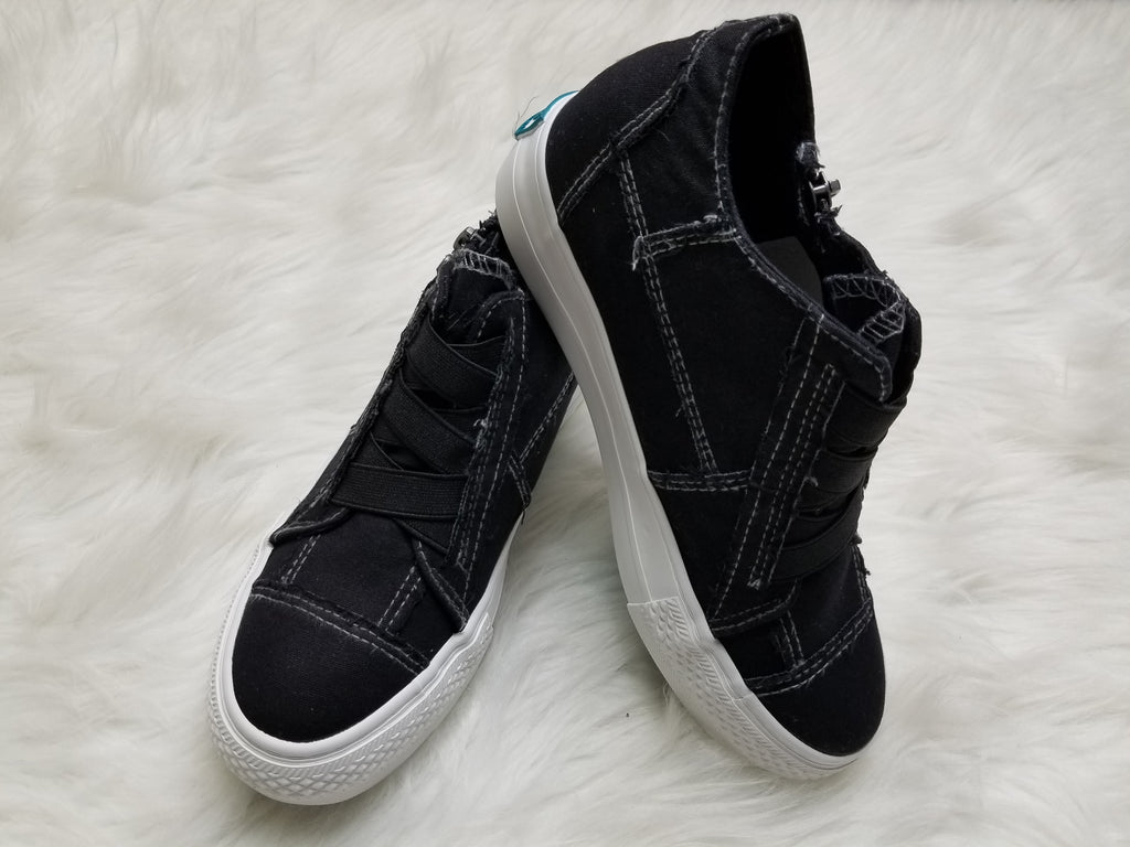Blowfish Mamba Wedge Sneaker - Black