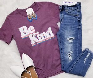 "Retro ""Be Kind"" Graphic Tee"