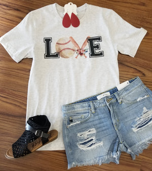 Love Baseball Graphic Tee