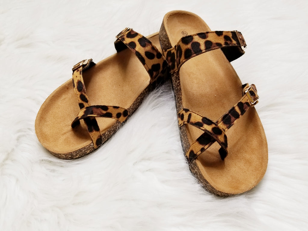 Leopard Open Toe Sandals