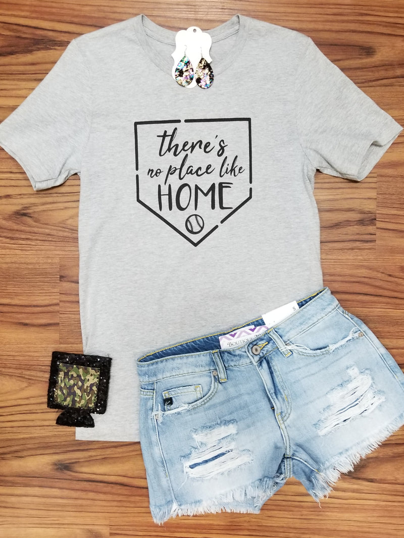 There's No Place Like Home Baseball Graphic Tee