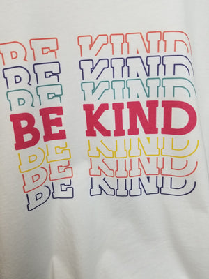 "Colorful ""Be Kind"" Graphic Tee"