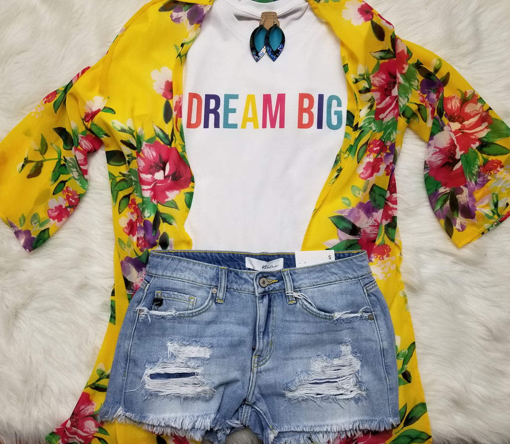 Dream Big Colorful Graphic Tee