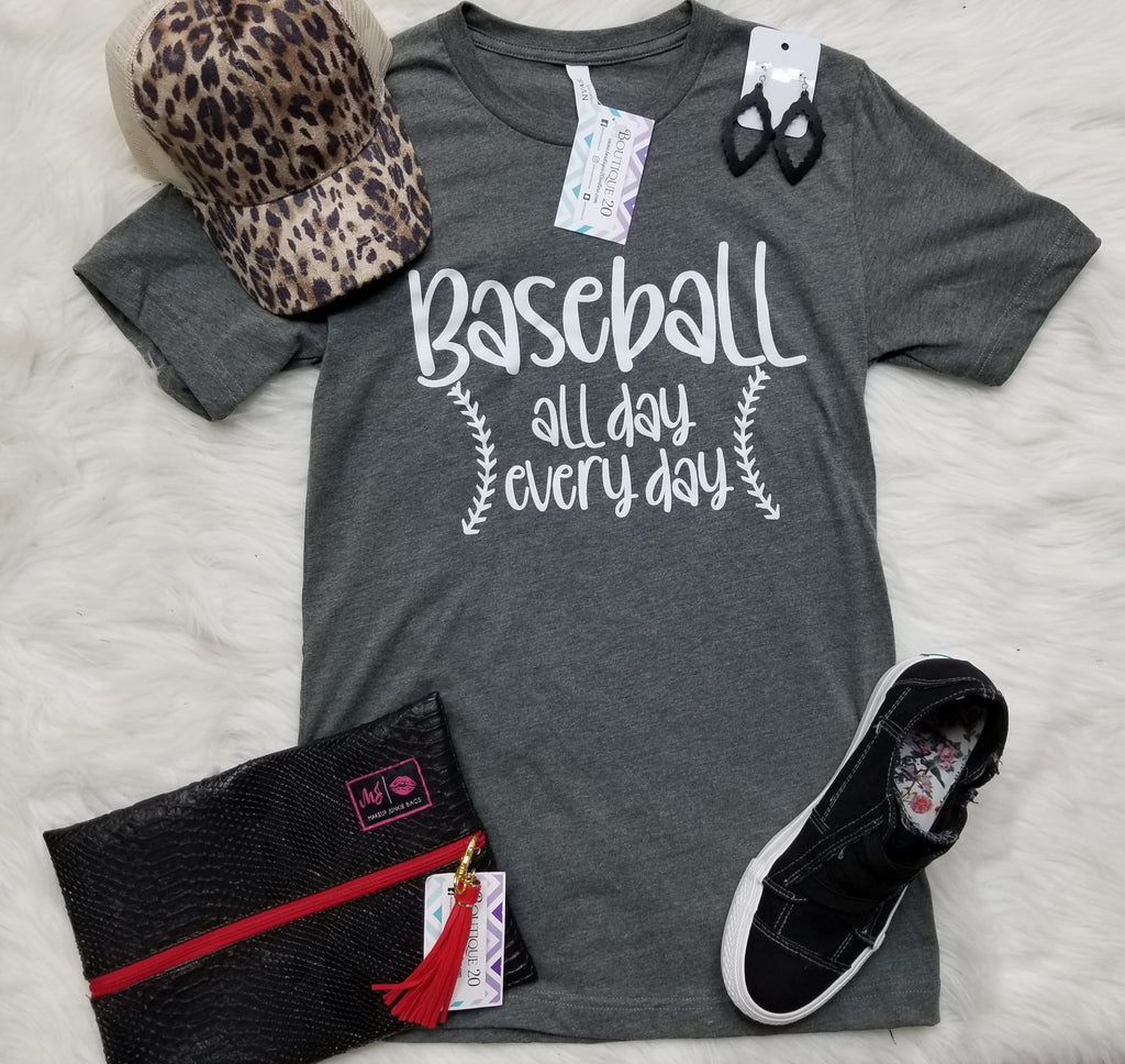 Baseball All Day Every Day Tee