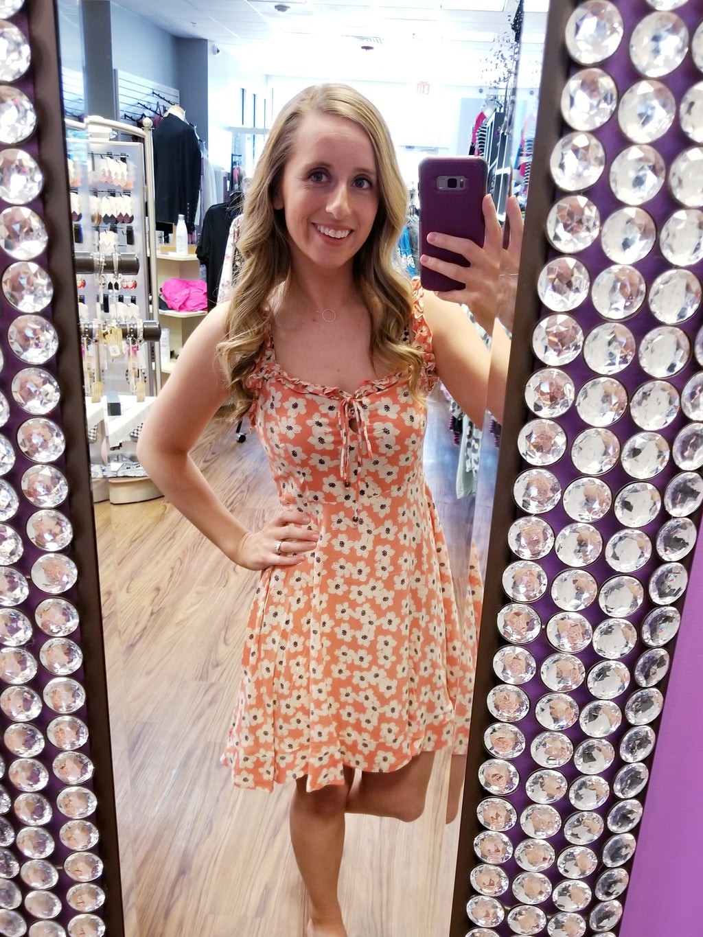 Floral Ruffle Strap Sundress