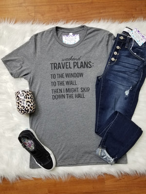Weekend Travel Plans Graphic Tee