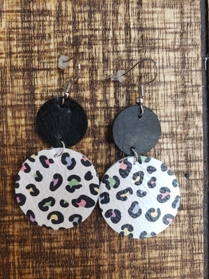 Double Layer Leopard Earrings